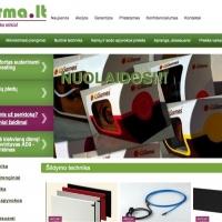 UAB ADAX gaminiais prekiaujama ir naujai atidarytoje e-parduotuvėje www.pirma.lt
