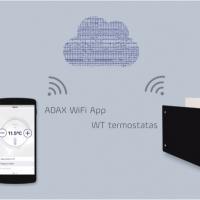 Naujiena: ADAX NEO H/L ir CLEA H/L valdomi per WiFi tinklą iš mobilaus telefono