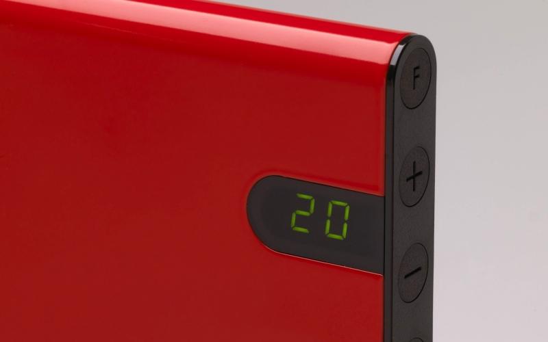 Elektrinis radiatorius GLAMOX heating H30 H20 KDT Red