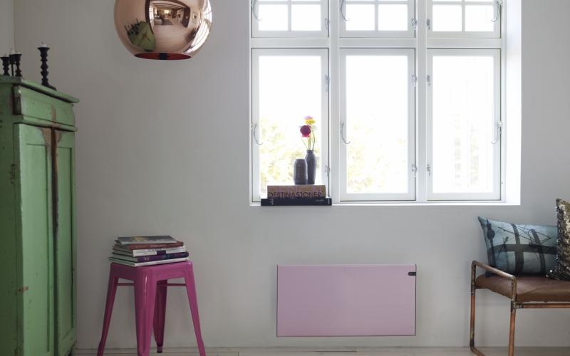 Elektrinis radiatorius GLAMOX heating H30 H08 KDT Pink
