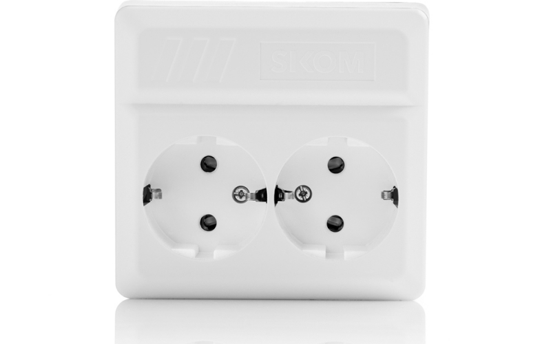 Įj./išj. rozetė, valdoma radijo ryšiu Eco Node Wall Socket, 16 Amp