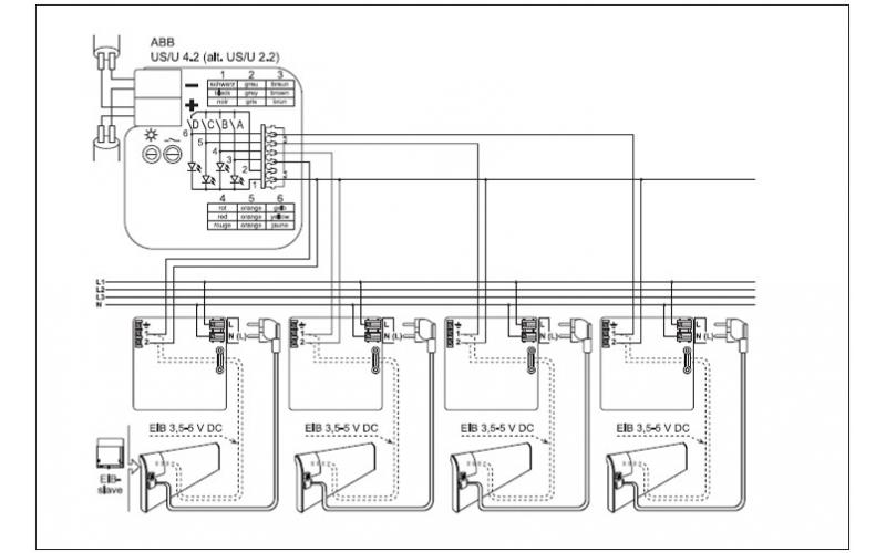 Termostatas-vykdantysis mechanizmas (modulis) GLAMOX heating TPA/TLO EIB Slave
